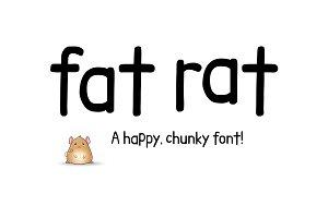 Fat Rat Font - chunky sans serif