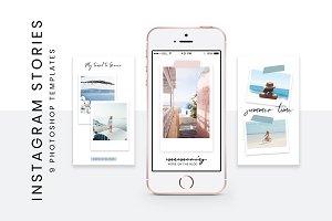 Polaroid Instagram Story templates