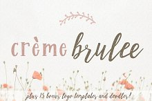 Creme Brulee Font Duo and Logo Kit by  in Script Fonts
