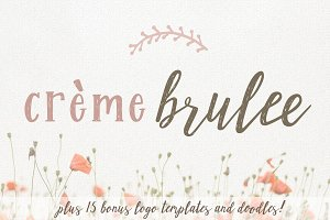 Creme Brulee Font Duo and Logo Kit