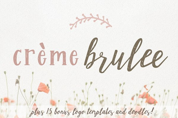 Script Fonts: Kellie Jayne Studio - Creme Brulee Font Duo and Logo Kit
