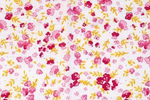 Pattern Cotton textile with flowers