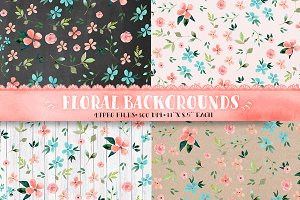 Floral backgrounds - digital paper