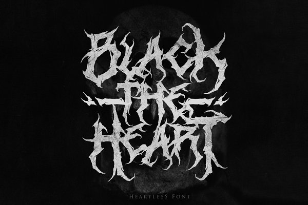 Blackletter Fonts: Lettersiro - Heartless- Great Deathmetal Font