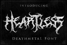 Heartless- Great Deathmetal Font