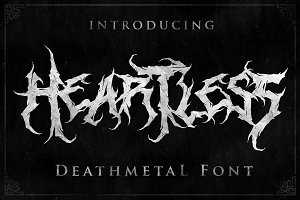Heartless- Great Deathmetal Font
