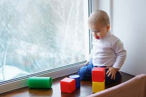 Boy is building constructor