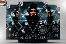 Gallax Nightclub Flyer Template