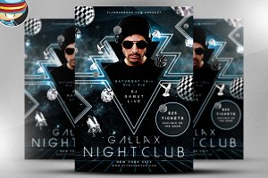Gallax Nightclub Flyer Template