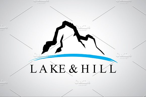 lake and hill logo template logo templates creative market
