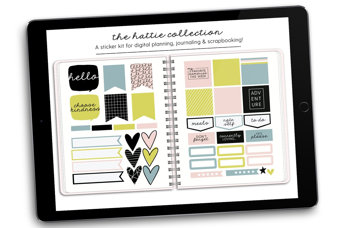 Digital Stickers | Hattie Collection