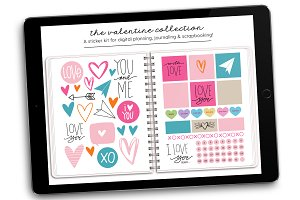 Digital Stickers | Valentine's Day