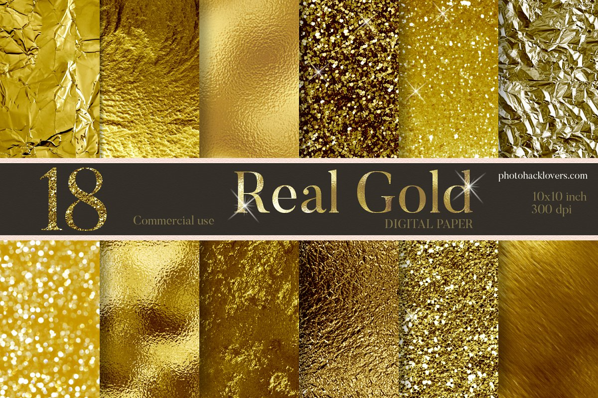 Real Gold Textures  in Textures - product preview 8
