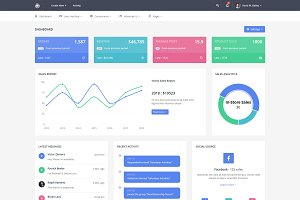 Zinzer - Admin & Dashboard Template