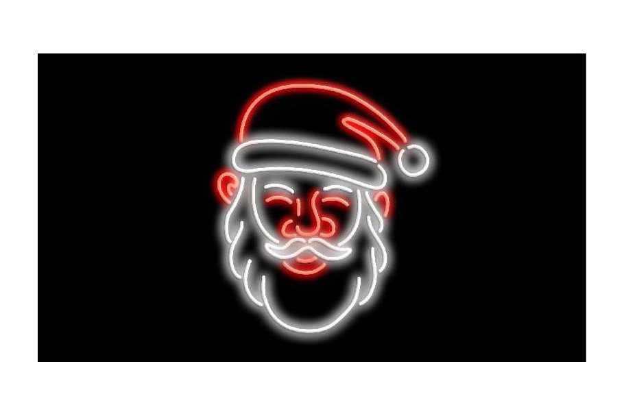 Santa Claus Neon Sign 2D Animation