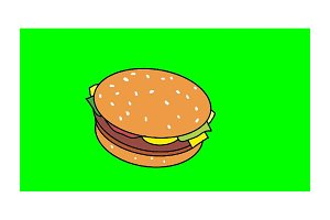 Morphing Junk Foods 2D Animation