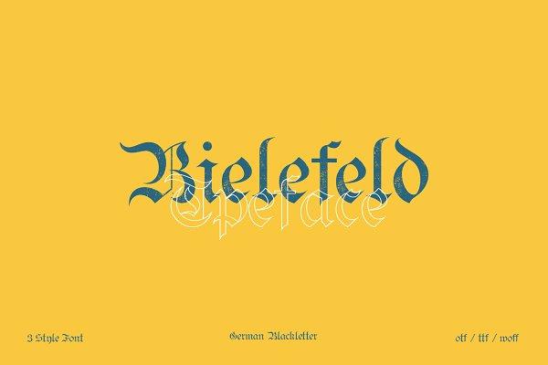 Fonts: emyself design - Bielefeld typeface font