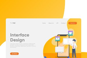 Interface Design - Banner & Landing