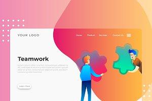Teamwork - Banner & Landing Page