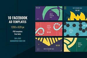 Geometric Facebook Ad Templates