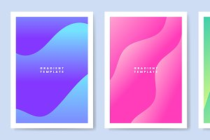 Colorful wave gradient template
