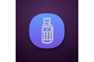 Payment terminal receipt app icon