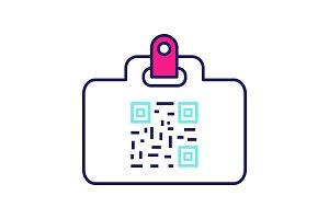 QR code identification card icon
