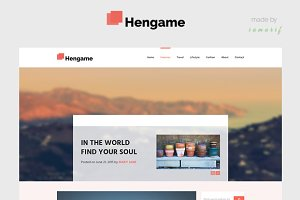 HENGAME - A Blog PSD Template