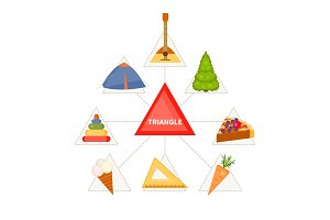 Triangular objects for children