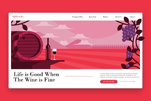 Farm  Winery - Banner & Landing Page