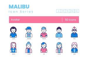 50 Avatar Icons | Malibu