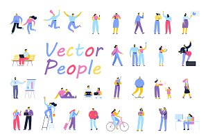 Flat Vector people
