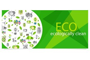 Eco Eecologically Clean Poster with