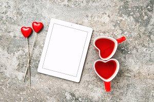 Red Heart Decorartion Drink Love