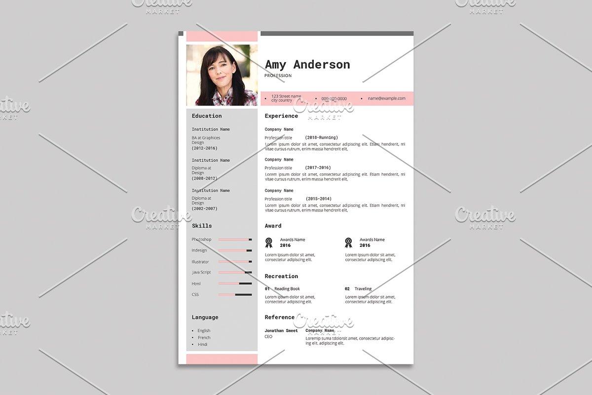 Resume Template - V04
