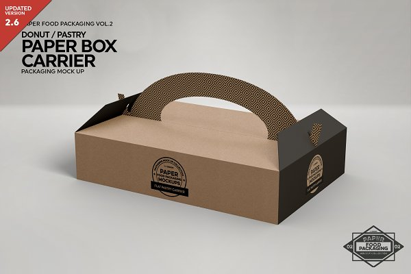 Download Pastry Donut Box Carrier Mockup Creative Photoshop Templates Creative Market