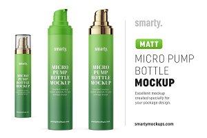 Micro pump matt bottle mockup