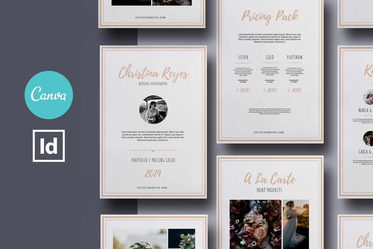Photography Pricing Guide Canva ~ Magazine Templates