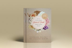Premium Rustic Rose Wedding Invite