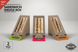 Sandwich Wedge Box Packaging Mockup