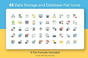 65 Data Storage and Databases Icons