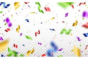 Serpentine and confetti isolated