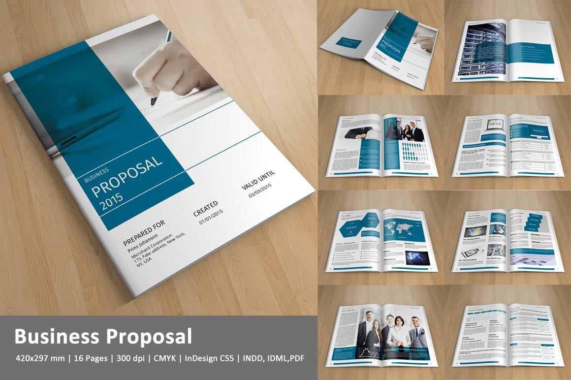 corporate brochure templates - business proposal v144 brochure templates creative market