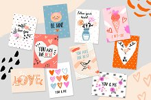 Love collection: cards & patterns by  in Graphics
