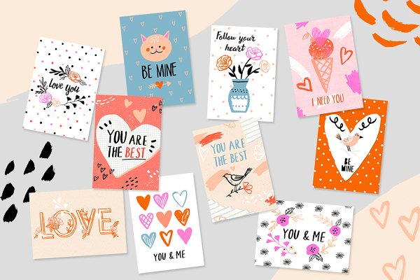 Graphics: Lu Lu Flowers - Love collection: cards & patterns
