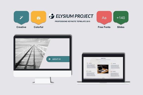 elysium keynote template presentation templates creative market