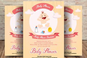 Baby Shower Party Flyer