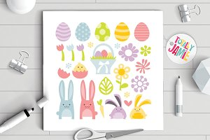 Happy Sweet Easter Spring Clip Arts