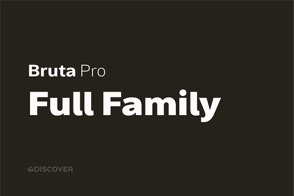 Sans Serif Fonts: NDISCOVER - Bruta Pro Full Family (85% OFF)