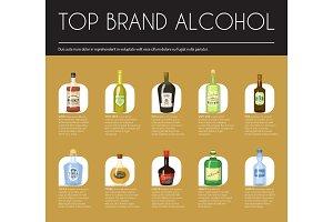 Alccohol wine list template for bar